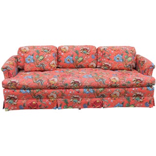 Henredon Chinoiserie Fabric Upholstered Sofa