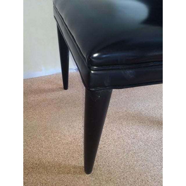 Baker Replica Black Leather Dining Chairs - A Pair - Image 4 of 8