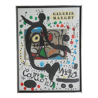 Vintage Large Mid 20th C. Lithograph-Joan Miro