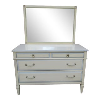 Kent Coffey Impresa Three Drawer Dresser with Wall Mount Mirror