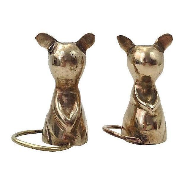 Image of Mid-Century Brass Mice Figurines - A Pair