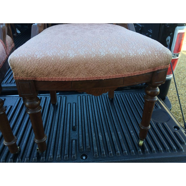 Vintage Victorian Chairs, Pink Upholstery - Pair - Image 8 of 9
