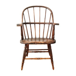 Antique American Sack Back Windsor Chair