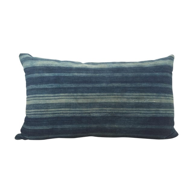 Image of Indigo Cloth Lumbar Pillow