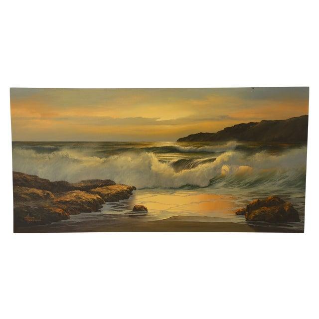 Vintage William Hoffman Seascape Painting - Image 1 of 5