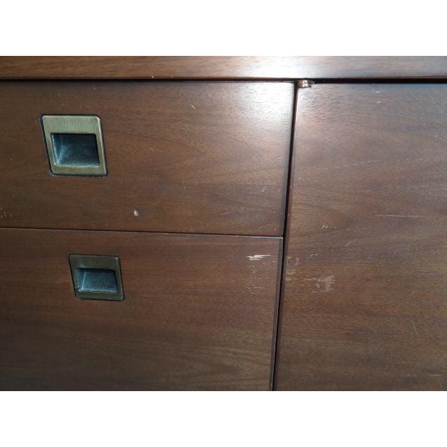 Image of Vintage Solid Oak Office Credenza