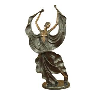 After Icart Bronze Dancer Sculpture