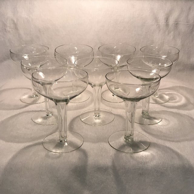 Traditional hollow stem champagne glasses set of 9 chairish - Hollow stem champagne glasses ...