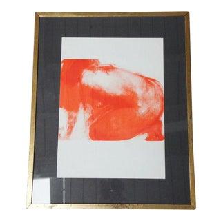 "1965 Claude Garache ""Red Nude"" Lithograph"