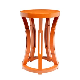 Orange Hourglass Side Table