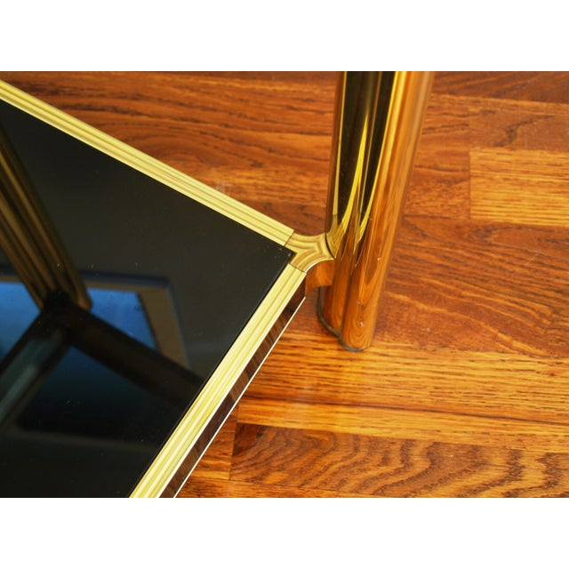 Black Sequin Wrapped Gold Console Table - Image 8 of 9