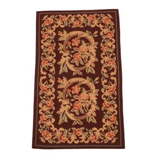 Handmade Chinese Needle-Point Carpet - 3′ × 5′