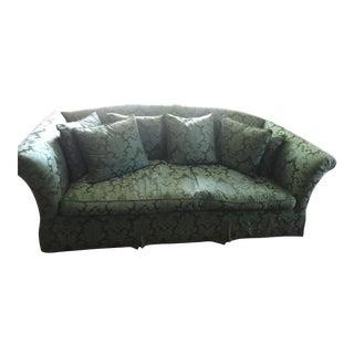 Damask Camel Back Sofa