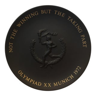 Wedgwood Black Basalt, 1972 Munich Olympic Plate