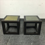 Image of Asian & Stone Small Cube Tables - Pair