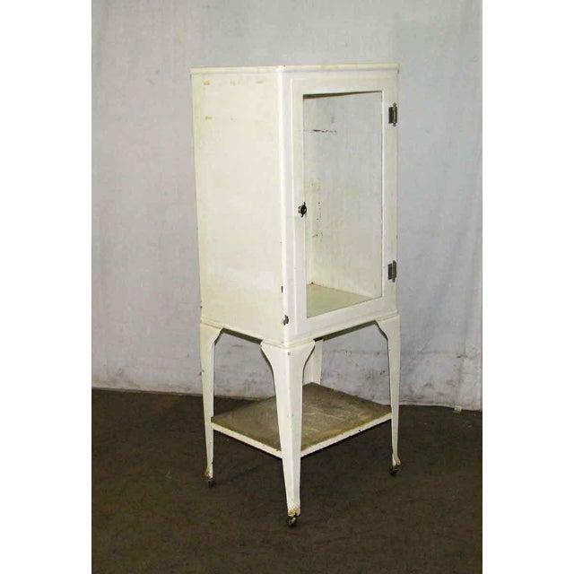 Vintage Medical Cabinet On Wheels Chairish