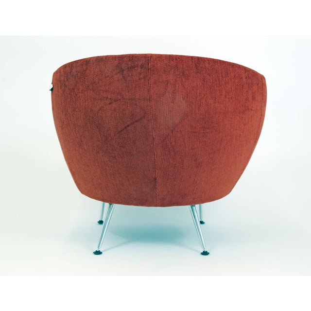 Brazilian Modern Mannes Curved Back Red Club Chair - Image 5 of 11