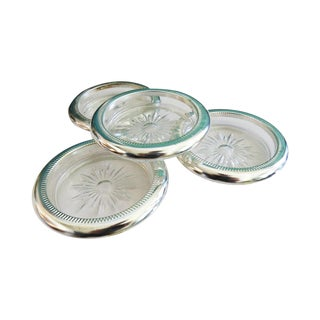 Leonard Silverplate Coasters - Set of 4