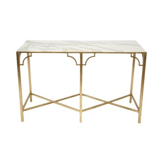 Marble Top Gilt Console Table
