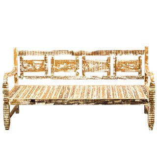 French Provincial Bench Reclaimed Solid Wood