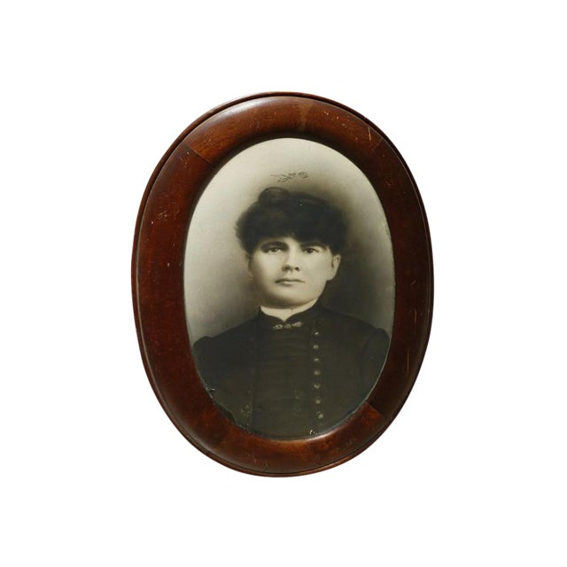 Antique Oval Frame Male Portrait - Image 1 of 4