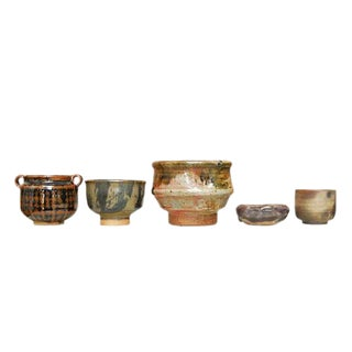Assembled Diminutive Studio Pottery Collection Set of Five