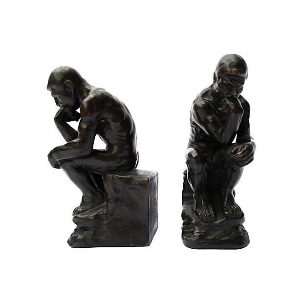 Thinker Bookends - Pair - Image 4 of 4