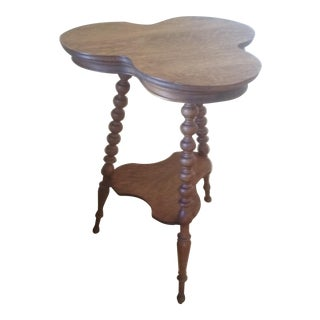 Antique Three Leaf Clover Wooden Table