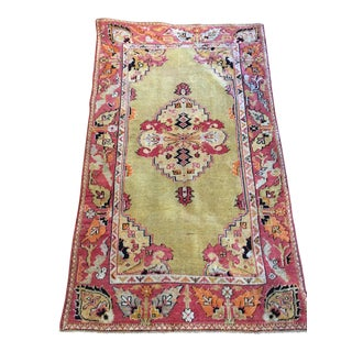 Antique Anatolian Turkish Cal Rug - 3′1″ × 5′2″