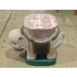Image of Ceramic Elephant Garden Stools - A Pair