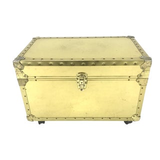 Vintage Riveted Brass Trunk