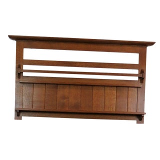 Stickley Oak Wall Hanging Plate Shelf