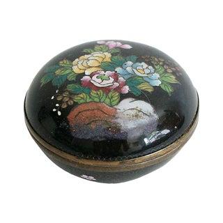 Round Cloisonné Trinket Box