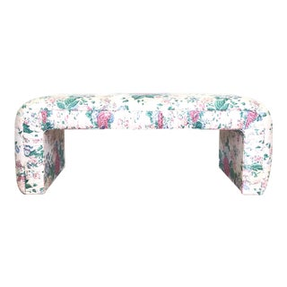 Vintage Floral Waterfall Bench