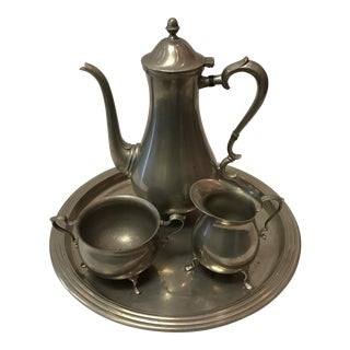 Vintage Pewter Tea Set - Set of 4