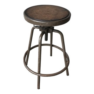 Vintage 1920s Industrial Drafting Stool