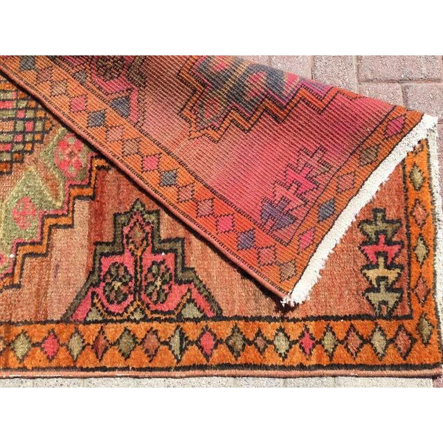 Vintage Turkish Runner Rug - 3′6″ × 10′10″ - Image 7 of 7