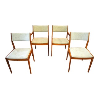 Danish Modern Teak Dining Chairs - Set of 4