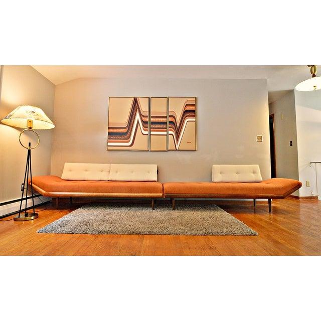 Mid-Century Three-Piece Sectional Sofa - Image 7 of 10