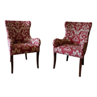 Lee Ikat Armchairs - a Pair Floor Sample
