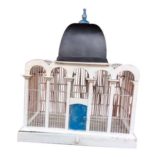 1930's Handmade Metal Birdcage - Image 1 of 3