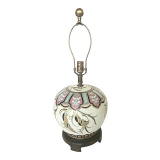 Vintage Art Deco Chinoiserie Lamp