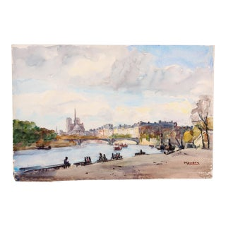 Along with Seine, c. 1930 by Raoul Monory