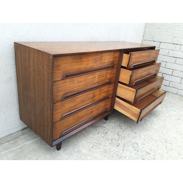 Mid-Century Walnut Wood Dresser - Image 6 of 11