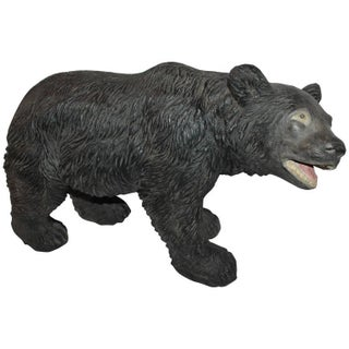 Monumental Original Painted Concrete Black Bear