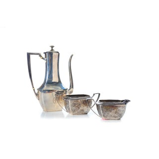 J. E. Caldwell Three-Piece Sterling Silver Tea Set