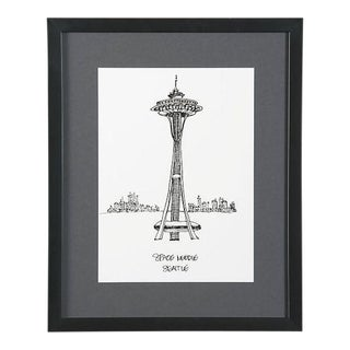 Framed Seattle Space Needle Print