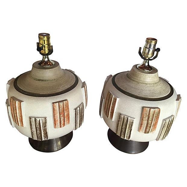 Mid-Century Modern Table Lamps - A Pair - Image 2 of 4