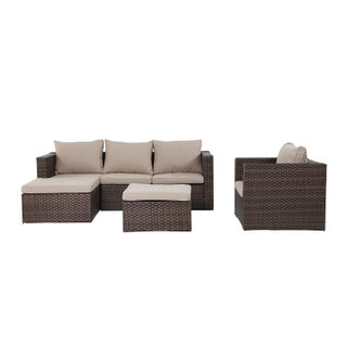 Grand Patio K.D. Metal Rattan Outdoor Sofa Set - S/4