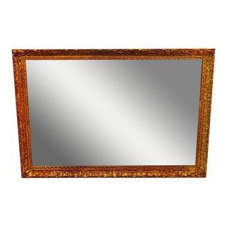 Vintage 1964 Gold Gilt Gesso Framed Wall Mirror